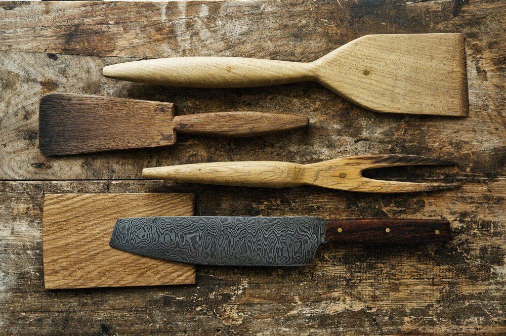 Küchenwerkzeuge der Lagerfeuer Küche