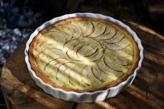 Apfelkuchen aus dem flachen Dutch