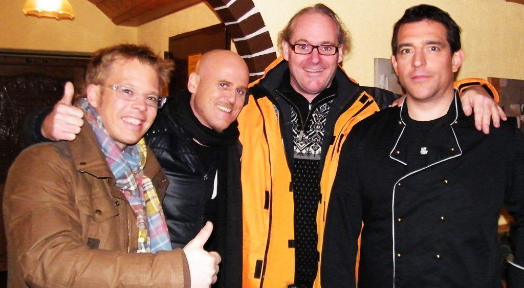 Rolf Iven mit den Küchenchefs Kotaska, Zacherl und Baudrexel