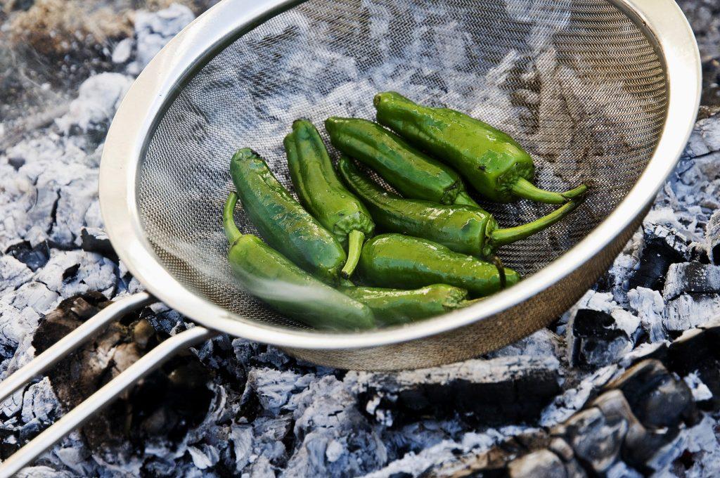 Grillpaprika in aromatisiertem Olivenöl